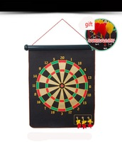 Dart Board Set Oversized Double-sided Magnetic Dartboard Genuine Flocking With Six Magnetic Darts ,Free Shipping