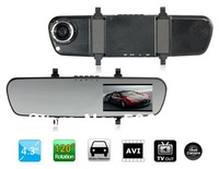 "Free shipping + Car dvr 2014 X16AV 4.3"" LED Screen SQ 720P Dual-lens Vehicle Black Box DVR (Black)"