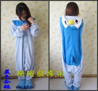 All In One Adult Animal Blue Penguin Adult Unisex Onesie Women Men Kigurumi Pajamas Christmas Hooded Jumpsuit Party Costumes