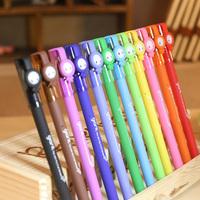 gel Pen little giant multicolour stationery unisex pen jelly unisex pen beautiful color pen 12pcs/lot