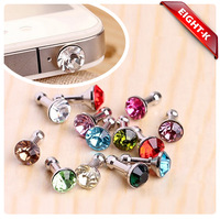 Diamond earphone plug Korea diamond lovely dustproof plug dustproof