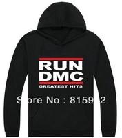 New Arrive Men's Brands RUN DMC Fashion Streetwear Hip Hop Hoodies Hooded Sweatshirts S-XXXL,Top quality,free shipping