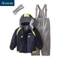 Child ski suit  for boy set male child outdoor jacket bib pants wadded jacket trousers children's clothing