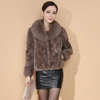 genuine fox fur vest 2013 female short design fox fur rex rabbit hair fur coat fur coat