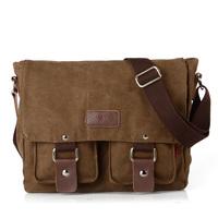 Wholesale vintage canvas shoulder bags for men,student school bags messenger bag 2101