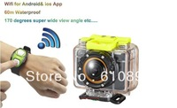 Full HD 1080P G8800 Sports Camera 60M Waterproof Hero 3 go pro 3 DVR with Ambarella A5 H.264 WIFI Control by Android IOS RC
