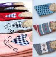 Women's rabbit wool sock loveliness cartoon pattern warmth short socks (1 lot / 5 pairs / 10 pcs)