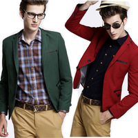 Free shipping new high quality men's fashion leisure suit jacket 5 color personality