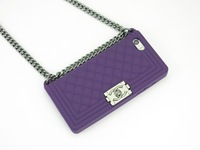 wholesale+retail 1pcs Newest Fashion Brand Case With Chain Handbag Purse for iPhone 4 4s 5 5S 5C case cover with retail package