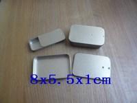 Free Shipping 8x5.5x1cm Tins Cases Favors gift jewelry Storage Bins silver matting 50pcs/lot