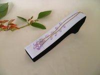 High Quality black velvet white pu bracelet anklet holder display bangle stand Jewelry Display
