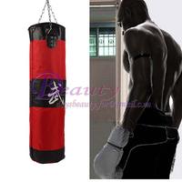Best Price!!100cm Training Fitness MMA Boxing Bag Hook Hanging Kick MMA Fight Bag Sand Punching Bag Sandbag (Empty) XXL