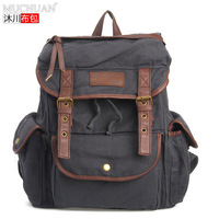 Fashion vintage casual canvas school bag travel backpack super big capacity laptop bag double-shoulder