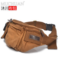 Cloth fashion multifunctional sports casual cross-body bag chest male outdoor canvas waist pack