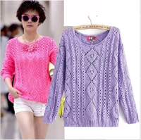 Sweater women 2013 autumn cutout long-sleeve pullover sweater