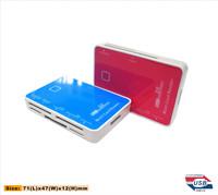 5GBPS usb micro sd card reader HUB fashion all in one card reader Mirror design
