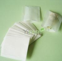 Free shipping! wholesale 10,000pcs 50 X 60mm Empty tea bag, Heat sealing bag, Filter paper, Herb powder / plant powder bags