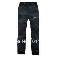 Free Shipping Hot Winter Warm Brand Soft Shell Pants for Men and Women Outdoor Sports Hiking Waterproof Pants