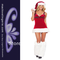 Suit Snow Maiden New Fashion Sleeveless Red White Womens Christmas Costumes Santa Claus Sexy Christmas Outfit Ladies Fancy Dress