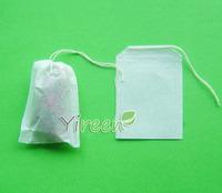 Free shipping! 1000pcs 50 X 70mm Empty teabag, Single drawstring tea bag,  Filter paper, Herb powder bags, coffee bags/ filters
