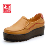 2014 New women's SHOE platform genuine leather shoes women pump BRAND high quality fashion design hot w3-1737