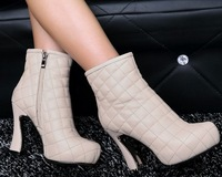 Freeshipping Best Selling Lady Fashion European Designed Lady Shoes Genuine Leather Fashion Women Boots 2 Colors C078