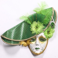Party hat decoration gorgeous prom feather tassel mask