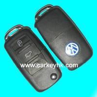 5pcs/lot   VW 3 button folding flip remote key with 315Mhz electronic ID48 chip DJ model