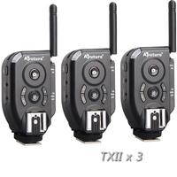 Aputure 3 PCS TXII 2.4G Trigmaster Plus II Wireless Remote Flash & Shutter Trigger for Canon/Nikon/Olympus/ Pentax Camera