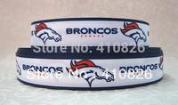 "WM ribbon 7/8inch 22mm 116002 ""Broncos"" Sport Printed grosgrain ribbon 50yds/roll free shipping"