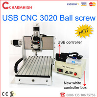 New USB port 3020 ball screw CNC Router CNC 3020B, 240w spindle, cnc engraving machine, high quality!