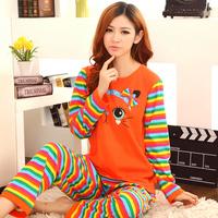 2013 women's autumn long-sleeve sleepwear female pure cotton lovely sleepwear female cartoon lounge set