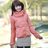 Free Shipping Sweet Women Down Coat Winter Jacket, Warm Thick Long Sleeve Cotton Overcoat Outwear Ladies Parkas KE129