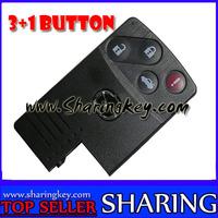 3+1 Button car Smart Card key Case for Mazda