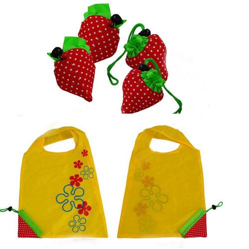 Strawberry Reusable Eco Shopping Tote Bag Foldable Portable Carrier Handbag(China (Mainland))