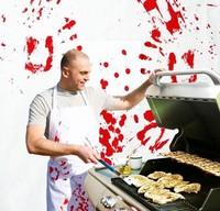 Free shipping 1Piece Bloody BBQ Apron Butchered Butchers Apron