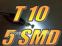 168 T10 W5W 5000K Super White LED 5 SMD Front Parking Headlight Light Bulb Globe