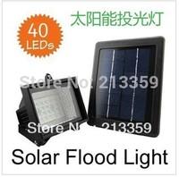Free Shipping for new style Solar garden light 100% solar powered, 40 leds solar lawn floodlight, solar spotlight Hot!