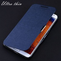 For Galaxy Note 3 III Ultra Thin Skin Leather Cover With Magnetic Button Slim Flip Phone Case for Samsung N9000 N7200