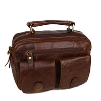 Male handbag messenger bag business casual fashion first layer of cowhide genuine leather bag 11062