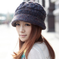 Siggi thickening wool fleece liner women's hat knitted hat female autumn and winter knitted hat