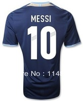 12/13 best thai quality Argentina home and away 10# MESSI soccer jersey, Argentina soccer jersey free shipping