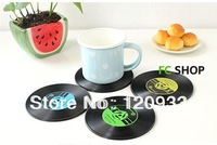 Free shipping 12Pieces/6set  Record Coasters for Music Lover