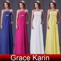 Grace Karin Floor length Strapless Ball Prom Gown fashion girl's quinceanera party Evening Dress CL3105