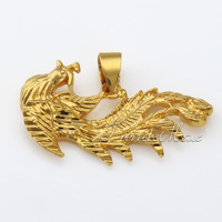 Womens Ladies pendant Cut Phoenix Gold Filled GF Pendant GP35