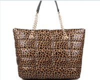 free shipping new fashion winter cotton leopard print bag  women handbags fashion bag desigual chain ling shoulder bags