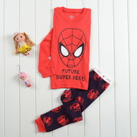 Children Kids Boys Baby autumn -summer Sprots Clothing Pajamas Sleepwear Spiderman Outfits 2pc Tops + Trouser Sets 1-7Y