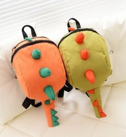 2013 children backpacks Dinosaur bag zipper school bags for boys girls cartoon backpack canvas bag cute backpack kids bag