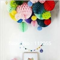 Free shipping 30pcs 20cm  Honeycomb Lantern Wedding / Baby Shower / Birthday Party / Nursery / Festival decoration
