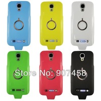 Free Shipping New Style Back Splint Battery Ring Support PC case for Samsung I9500 Galaxy S4,Many Colors